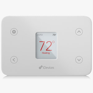 apple homekit idevices thermostat 3D model