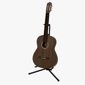 3D model classic guitar