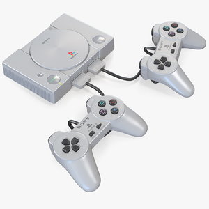 3D sony playstation classic console