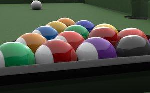 3D billiard table set