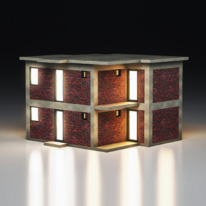 3D model office building interior
