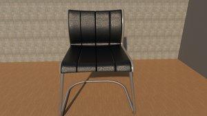 3D model silla oficina