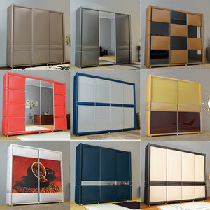 9 wardrobes 3D