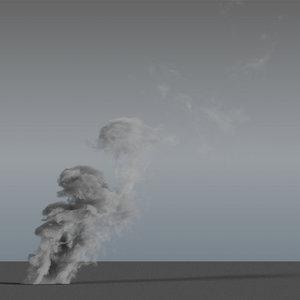 smoke rising 08 - model