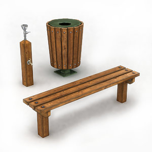 park furniture 3D model