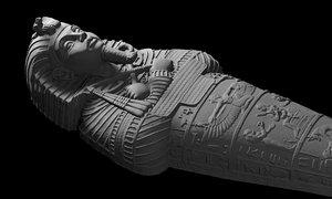 3D model ancient egypt pharaoh coffin
