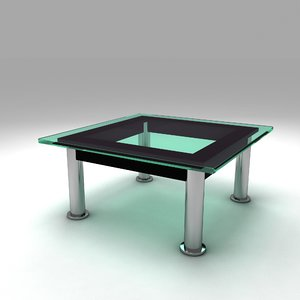 le corbusier lc10 dining 3D