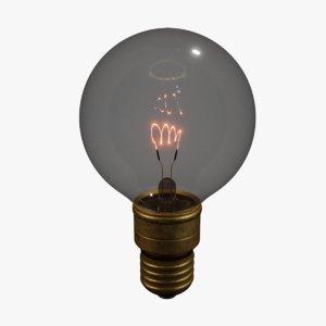 vintage 1930 light bulb model