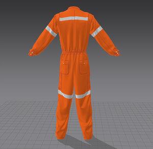 3D worker uniform model