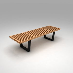 george nelson bench 3D model
