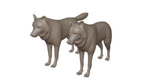 3D wolf modelled
