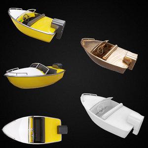 3D motorboat pbr