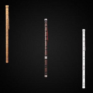 3D flute music equipment pbr