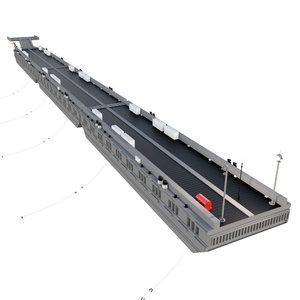 3D model floating pier pontone