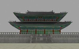 geunjeongjeon gyeongbokgung palace 3D model