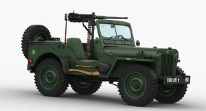 3D runner 1950 willys m38