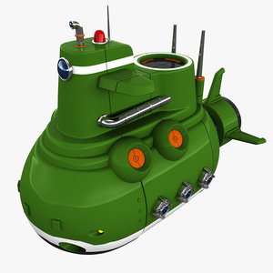 3D model submarine sub marine