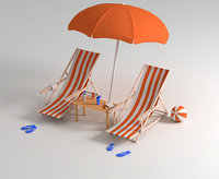Beach Chairs and items