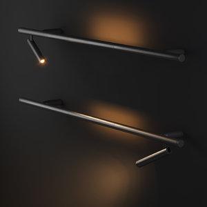 wall mounted lamp backlight 3D model