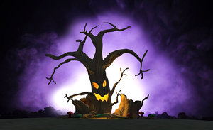 halloween tree horrors haunted house model