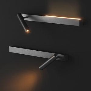 3D wall mounted lamp hello model