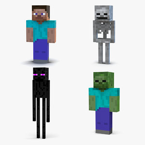 3D minecraft characters