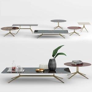 poliform mondrian coffee table 3D