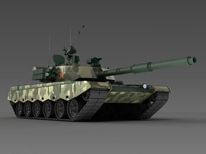 3D chinese type 96 tank model