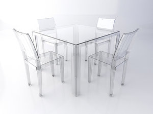 kartell table chairs set model
