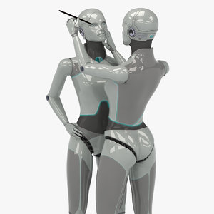 female robot 3d lwo