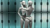 female robot 3d lwo