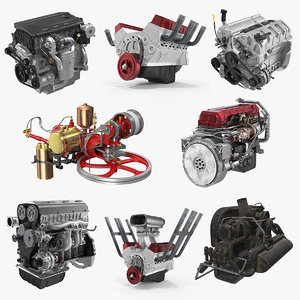 car engines 3 3D