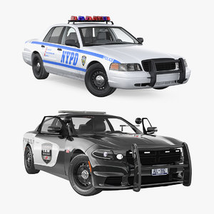 3D police cars rigged