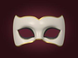 3D mardi gras woman mask model