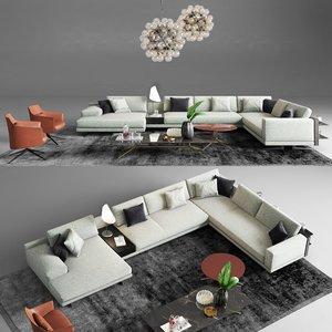 1 poliform mondrian sofa 3D