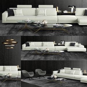 poliform mondrian sofa 3D model
