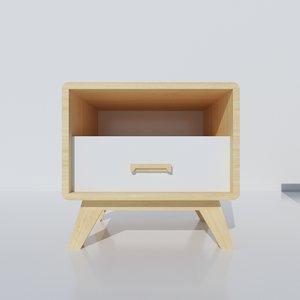 3D mesa bedside table
