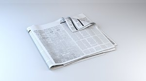 paper newspaper fold 3D model