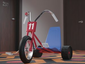 shining tricycle 3D model