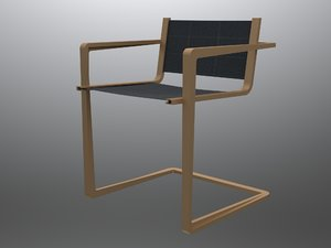 original design cantilever chair 3D model
