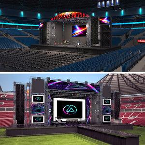3D concert stages model