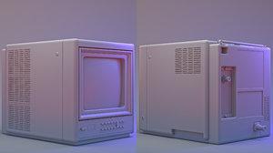3D 1986 zenith color portable tv model