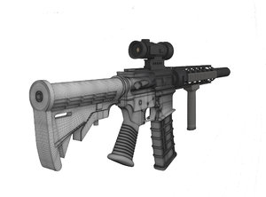 3D m4 weapon model