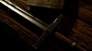 3D steel sword model