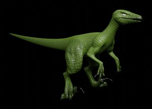 rigged velociraptor 3D model