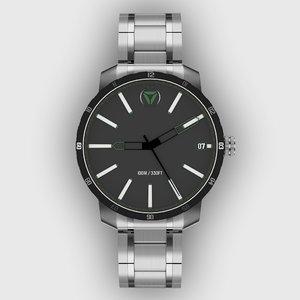 3D model steel watch