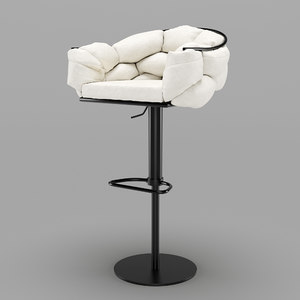 loftdesigne bar chair design 3D model