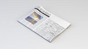 3D paper newspaper fold