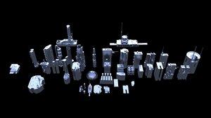 sci-fi kit bash - 3D model