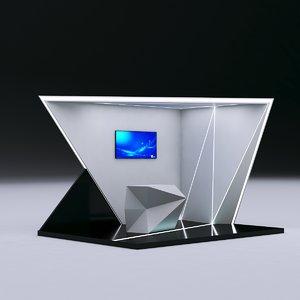 futuristic booth 3D